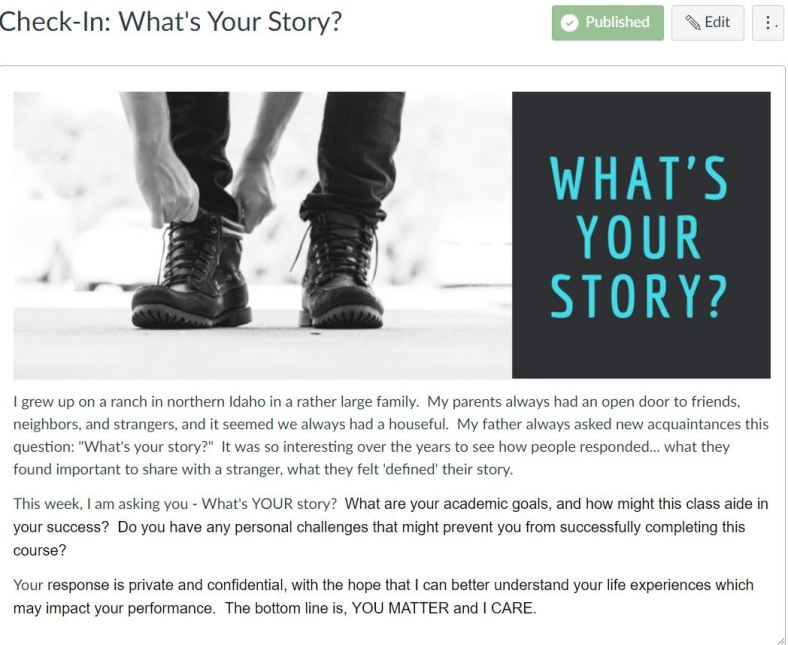 What's Your Story.